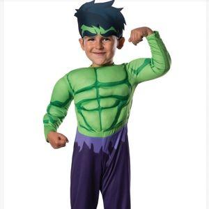 NWT Marvel My 1st Marvel Hulk Costume Sz 2-4